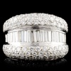18K Gold 5.31ctw Diamond Ring