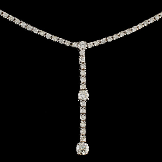 18K Gold 1.40ctw Diamond Necklace