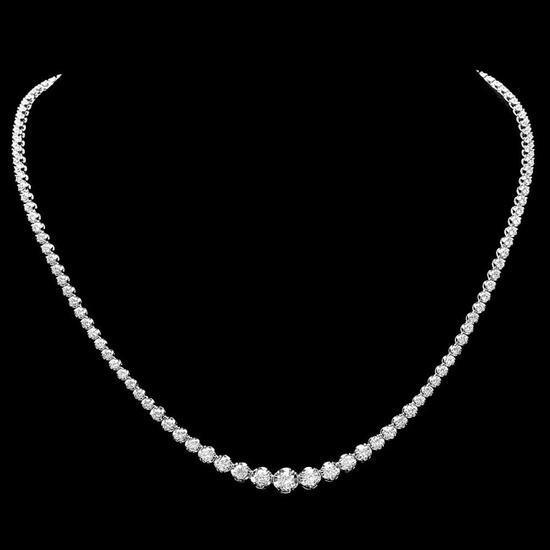 ^18k White Gold 6.50ct Diamond Necklace