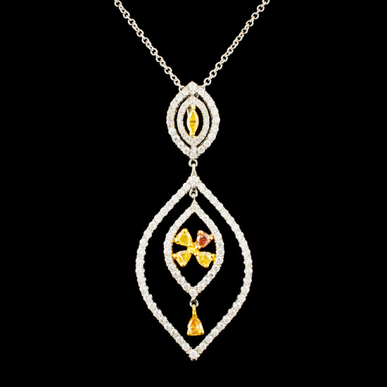 18K Gold 1.27ctw Diamond Pendant