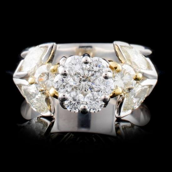 18K TT Gold 1.36ctw Diamond Ring