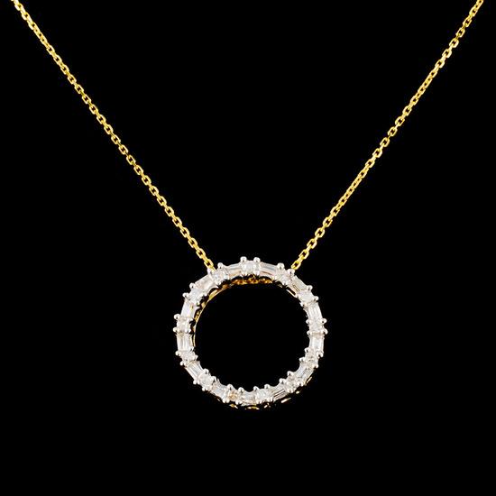 14K Gold 0.23ctw Diamond Pendant