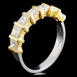 18K TT Gold 1.20ctw Diamond Ring