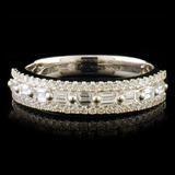 18k White Gold 0.72ctw Diamond Ring
