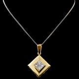 18K Yellow Gold 1.43ctw Diamond Pendant