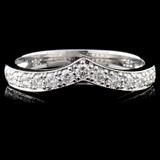 18K White Gold 0.29ct Diamond Ring