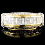 18K TT Gold 1.48ctw Diamond Ring
