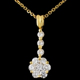 18K Yellow Gold 0.95ctw Diamond Pendant