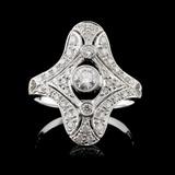 18K White Gold 0.58ct Diamond Ring
