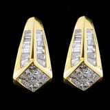 18K Yellow Gold 2.32ctw Diamond Earrings