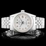 Rolex DateJust SS Diamond 36MM Wristwatch