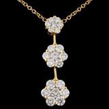 18K Yellow Gold 2.02ctw Diamond Necklace