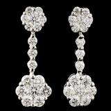 18K Gold 2.29ctw Diamond Earrings