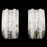 18K Gold 2.27ctw Diamond Earrings