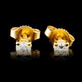 14K Gold 0.18ctw Diamond Earrings