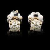 14K Gold 0.22ctw Diamond Earrings