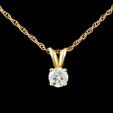 14K Gold 0.30ctw Diamond Pendant