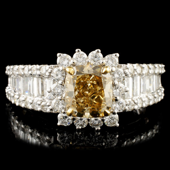 18K Gold 2.70ctw Fancy Diamond Ring