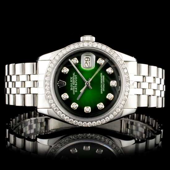 Rolex DateJust Diamond 36MM Wristwatch