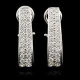 14K White Gold 2.44ctw Diamond Earrings