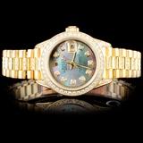 Rolex 18K YG Presidential Ladies Diamond Watch