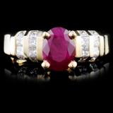 14K Gold 1.54ct Ruby & 0.73ctw Diamond Ring