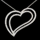 14K White Gold 1.52ct Diamond Pendant