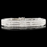 18K Gold 11.00ctw Diamond Bracelet