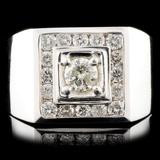 14K White Gold 1.70ctw Diamond Ring