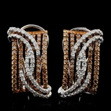 14K White Gold 1.64ctw Fancy Color Diamond Earring