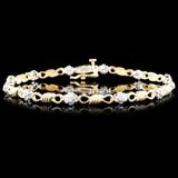 14K Gold 0.25ctw Diamond Bracelet