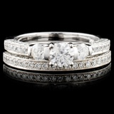 14K Gold 1.30ctw Diamond Ring
