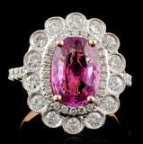 18K Rose Gold 2.96ct Sapphire & 0.97ct Diamond Rin