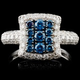 14K Gold 1.43ctw Fancy Diamond Ring