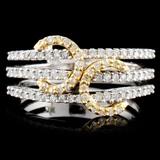 18K TT 0.71ctw Diamond Ring