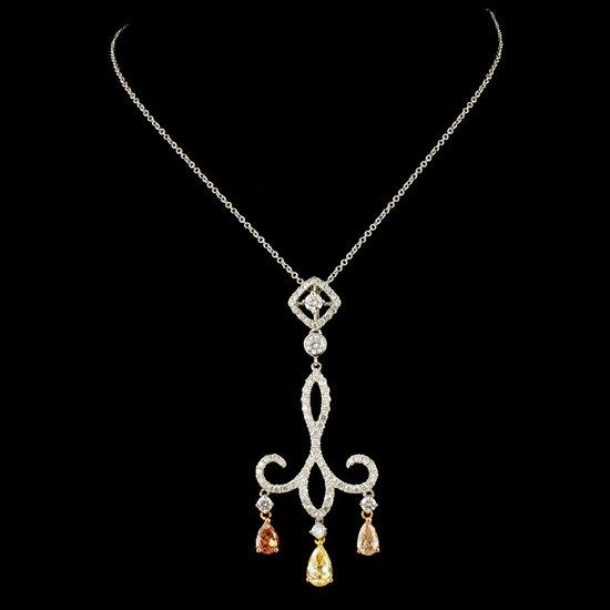 18K Gold 2.11ctw Diamond Pendant