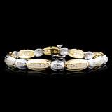 14K Gold 1.91ctw Diamond Bracelet