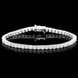 ^18k White Gold 7.45ct Diamond Bracelet