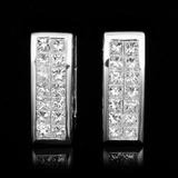 18K White Gold 3.65ctw Diamond Earrings