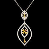 18K Gold 1.27ctw Diamond Pendant