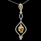18K Gold 1.26ctw Fancy Diamond Pendant