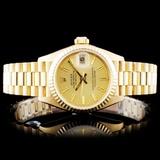 Rolex 18K Gold Presidential Ladies Wristwatch