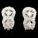 18K Gold 1.58ctw Diamond Earrings