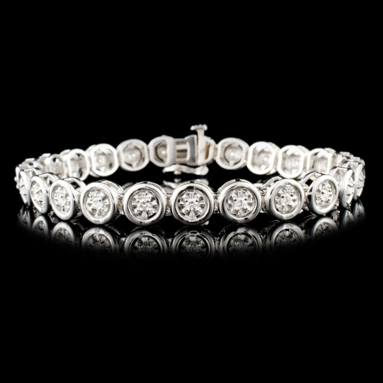 14K Gold 0.56ctw Diamond Bracelet