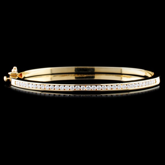 14K Gold 0.87ctw Diamond Bracelet