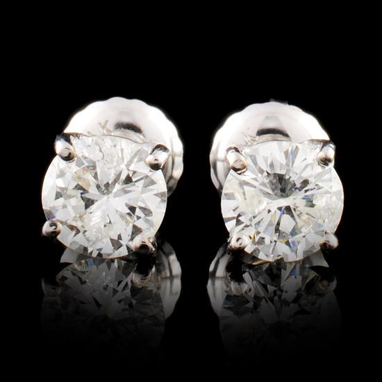 14K Gold 0.90ctw Diamond Earrings