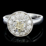 14K Gold 1.25ctw Diamond Ring