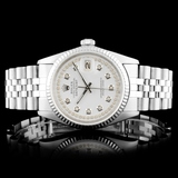 Rolex DateJust SS Diamond 36MM Wristwatch