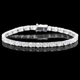 ^18k White Gold 9.00ct Diamond Bracelet