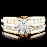 14K Gold 1.33ctw Diamond Ring